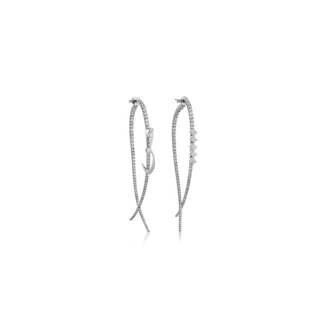 Uniq Design - Gümüş Aşk ve Nokta Taşlı Küpe