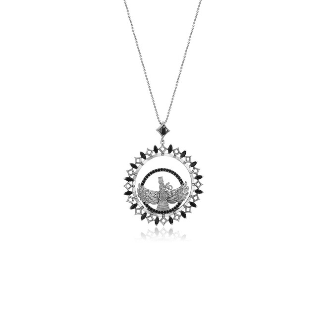 Farvahar Collection - Gümüş Farvahar Kolye
