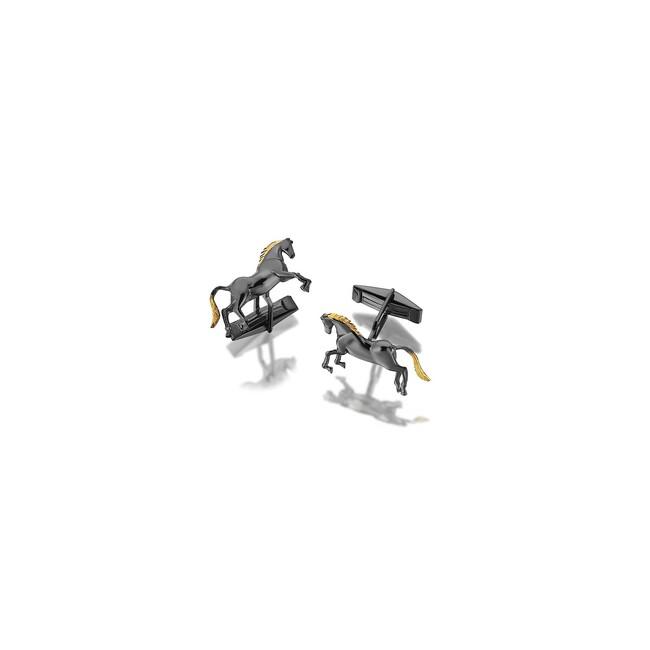 Uniq Design - Gümüş At Figürlü Erkek Kol Düğmesi