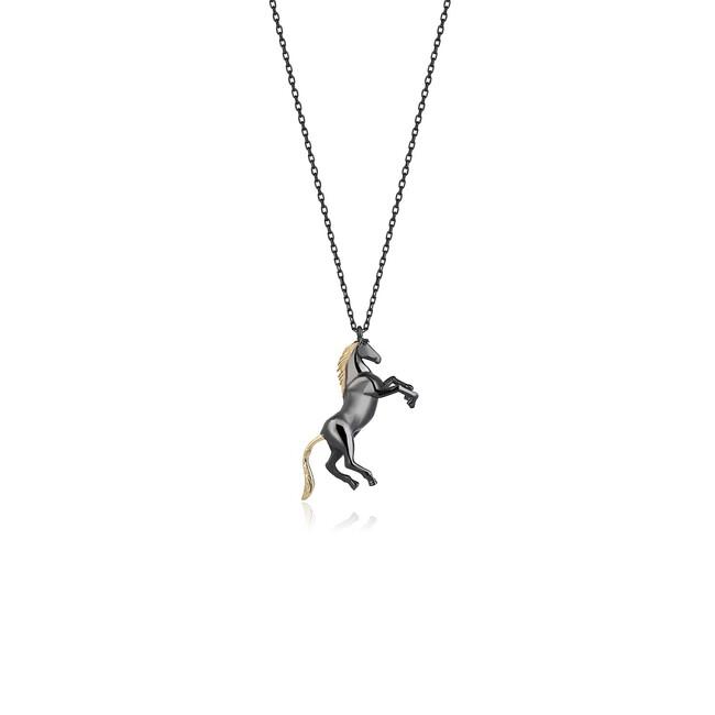 Uniq Design - Gümüş At Figürlü Kolye