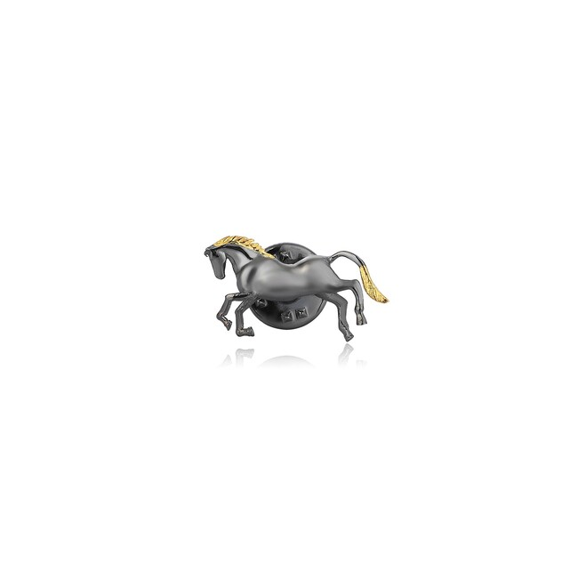 Uniq Design - Gümüş At Figürlü Erkek Pin