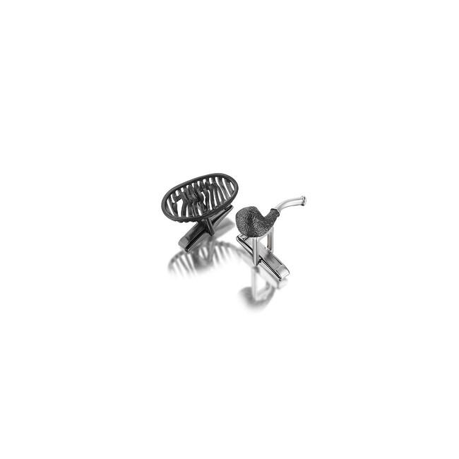 Sabancı Collection - Gümüş Şapka Pipo Avni Lifij Erkek Kol Düğmesi