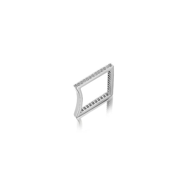 Uniq Design - Gümüş Nokta Kıvrım Yüzük