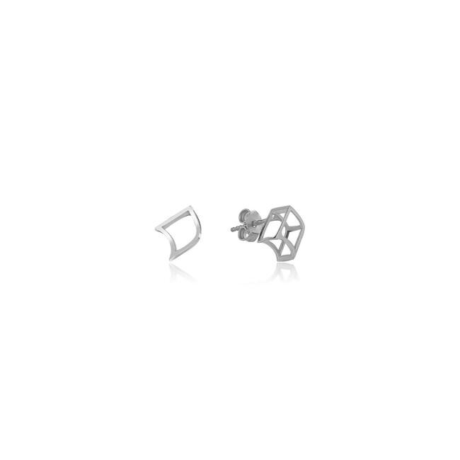 Uniq Design - Gümüş Nokta Küpe