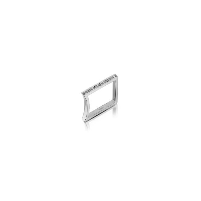 Uniq Design - Gümüş Nokta Taşlı Yüzük